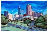 IMAGES: Iconic Raleigh scenes and skyline captured by local artist