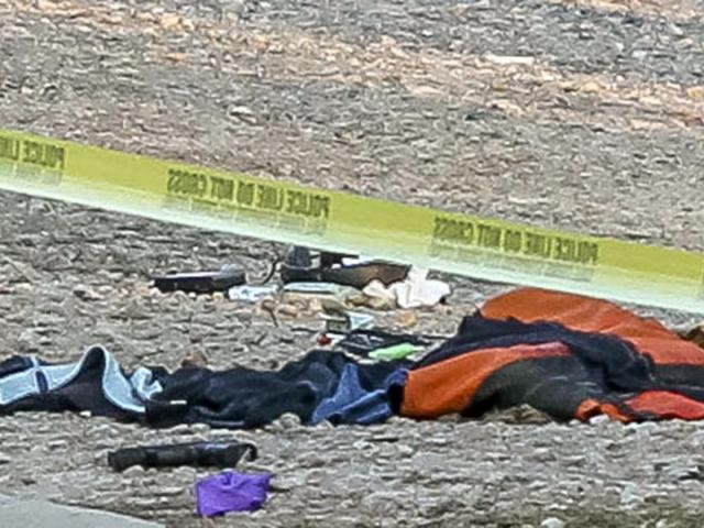 A gun was found at the scene of a Raleigh police shooting off Pleasant Valley Road on Jan. 30, 2020. (Photo courtesy of Delmas Cooper)