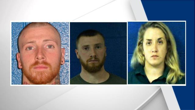 Ronald Bridges, Donald Bridges, Jessica Bridges (Nash County Sheriff's Office photos)
