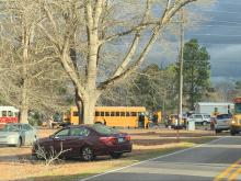 School bus crash in Johnston County