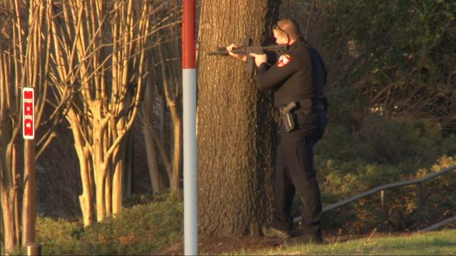 Police surround Chick-fil-A on Harrison Avenue in Cary