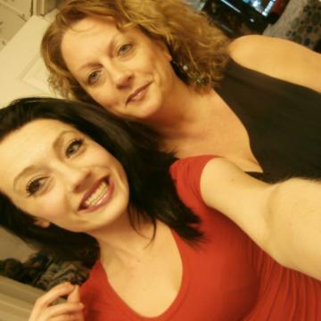 Katie Lothrop and her mother