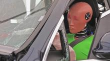 IMAGES: Dummies used in crash tests don't represent average female