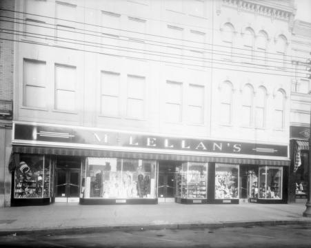 McClellan's on Fayetteville Street. Image courtesy of the State Archives of North Carolina