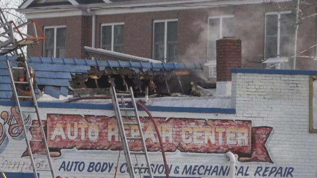 Car repair shop in downtown Durham damaged in fire