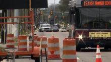 IMAGES: Part of busy Fayetteville Road to be down two lanes as test on Saturday
