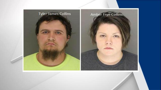 Tyler Collins and Amber Collins (Moore County Sheriff's Office photos)