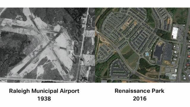Raleigh Municipal Airport overhead view