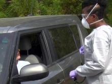 Drive-up virus tests protects providers, patients