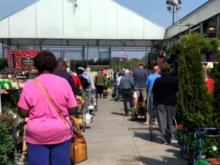 Home and garden locations packed with shoppers