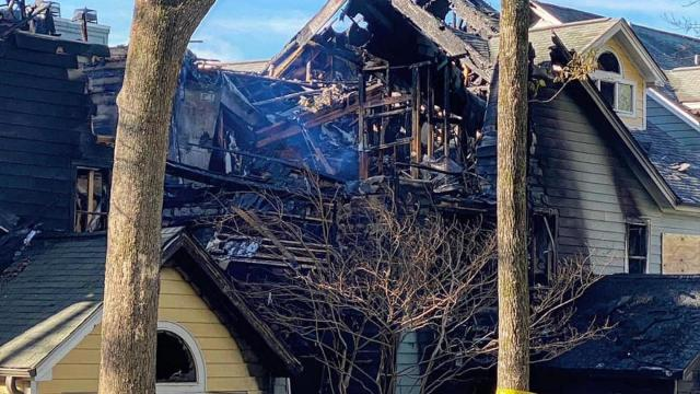 Apartment fire causes massive damage
