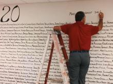Apex Friendship High School principal creates 'Class of 2020' wall for seniors