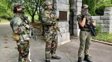 IMAGES: Armed groups in downtown Raleigh protest virus-related restrictions