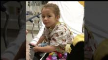 IMAGES: 6-year-old girl's cancer treatment disrupted during COVID-19 outbreak