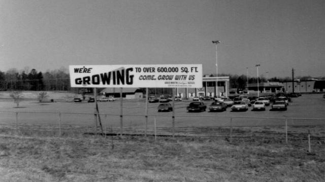 South Hills Mall was built in the mid-1960s. Image credit: Town of Cary History Archives