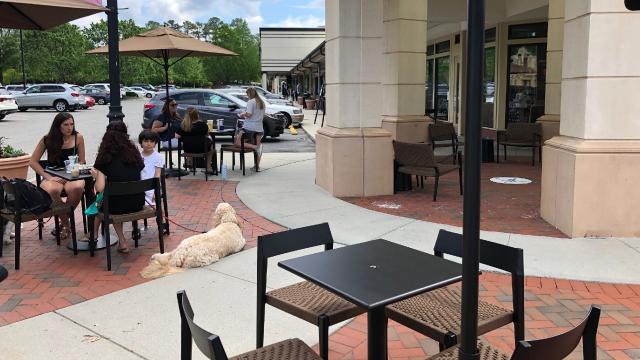 Outdoors at Starbucks