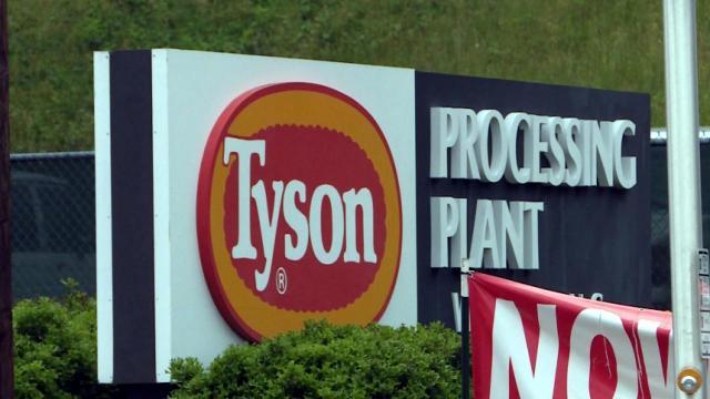Tyson processing plant in Wilkesboro