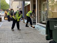 Downtown Raleigh cleanup begins after night of violent protests