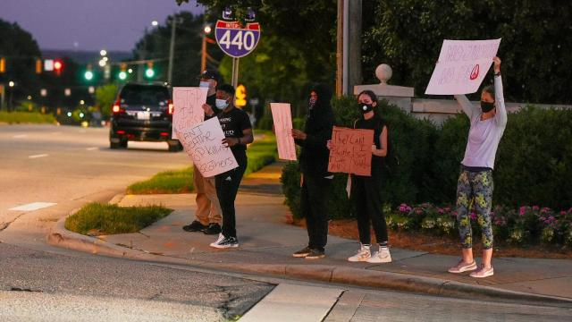 People protest police overreach in Raleigh