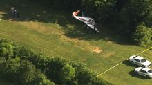 IMAGE: Small plane runs off runway into trees at Durham Co. private airport
