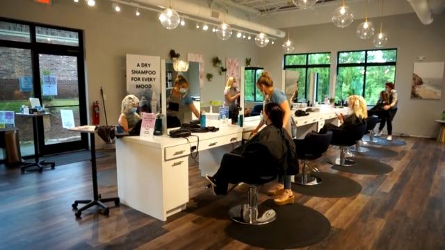 Apex salon recovering, social distancing