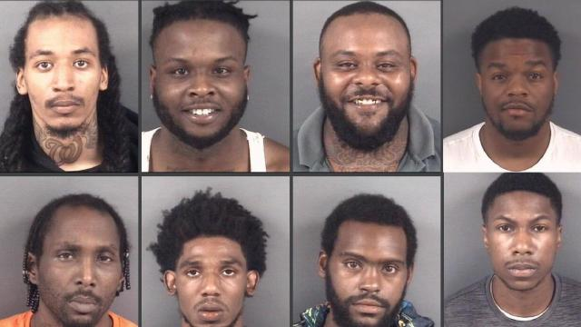 Eight arrested in Fayetteville (Fayetteville Police photos)
