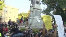 IMAGE: Hundreds peacefully gather at the State Capitol for ninth day of protests