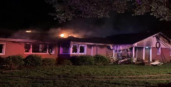 Fire tears through Fuquay-Varina home