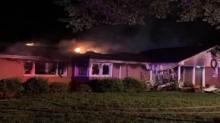 IMAGE: Family of 3 safe after fire tears through Fuquay-Varina home
