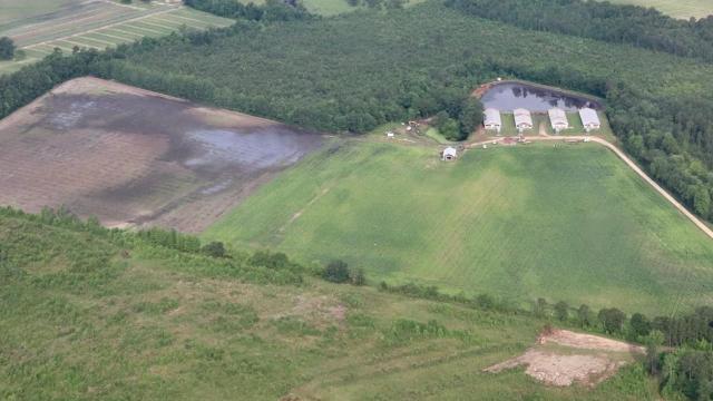 Sampson County sewage spill (B&L Farms photo)