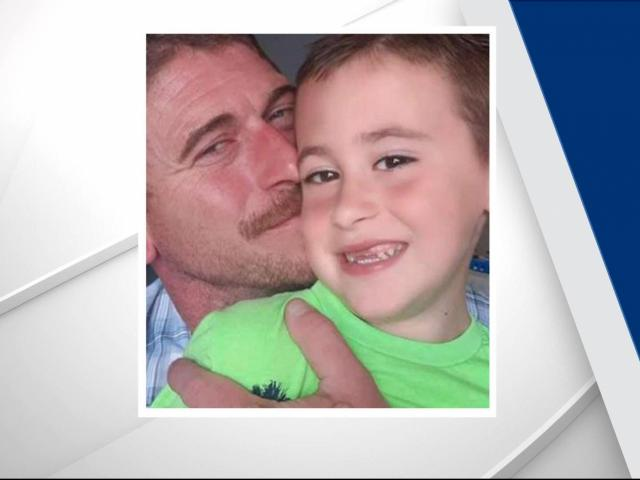Missing 6-year-old Lucas Kinlaw with his father Willard Kinlaw