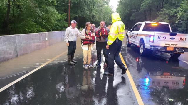 Two people rescued by Nash County crews after driving through flood waters