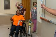 IMAGES: After 2 months in hospital, weeks on ventilator, cheers and tears greet Hamlet woman's discharge