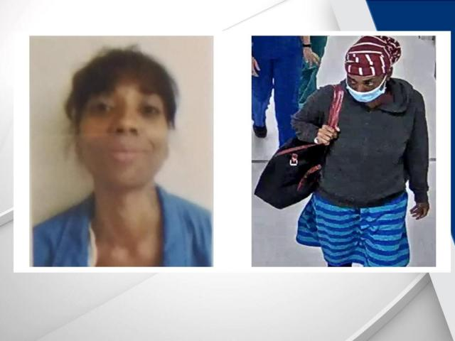 Officials are looking for a missing woman. She was last seen on surveillance tape at Duke Regional Hopsital. Photo from the Durham Police Department.