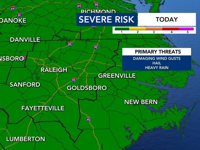 Triangle now included in severe weather risk this afternoon