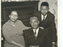 Joseph Holt, Jr. and his parents: The first black family to challenge segregation in Raleigh schools. (Image courtesy of Joseph Holt, Jr.)