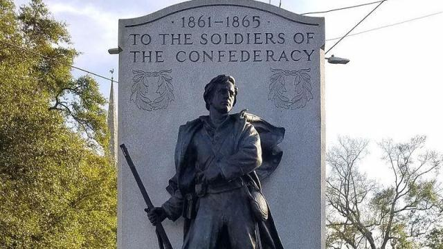 The Soldiers of the Confederacy Monument in downtown Wilmington. Photo from Edward Orde.