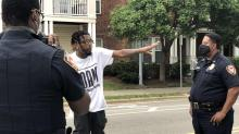 IMAGES: Four people arrested in Durham outside police headquarters after days of protests