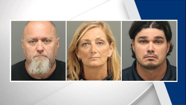 Scott Talbot, Vicki Talbot and Matthew Hihn (Garner Police photos)