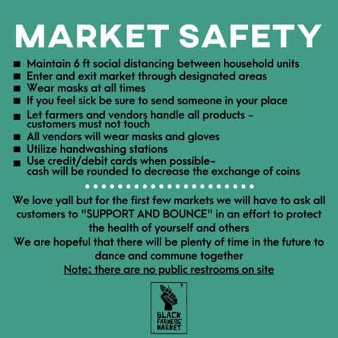 Market Safety guidelines