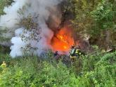 IMAGES: Three men ejected from car, died in fiery crash near Gaston