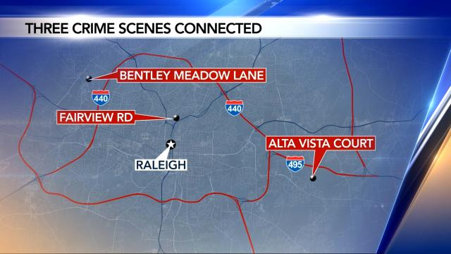 3 found dead at different locations in Wake County