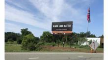 IMAGES: Black Lives Matter billboard goes up alongside giant Confederate flag on NC highway