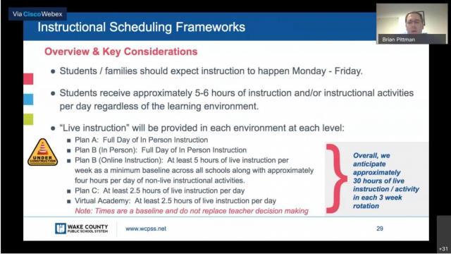 Instructional scheduling frameworks