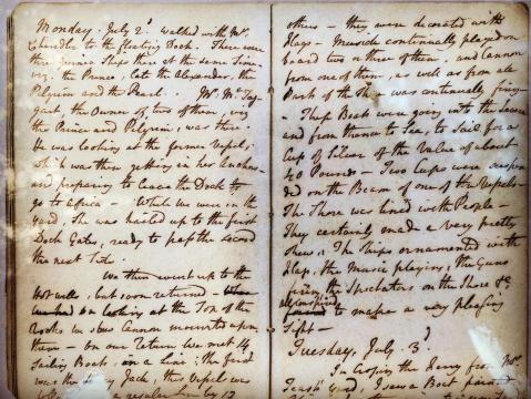An abolitionist's journal entry describing firsthand accounts of helping rescue freedom seekers.