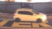 IMAGES: Fayetteville police seek help identifying car seen dumping white paint on Black Lives Matter mural