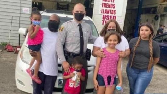 Kindness: NC trooper buys new tires, lunch for family stranded on highway