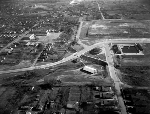 An overhead view of Chavis Park. (Courtesy of the State Archives of North Carolina)