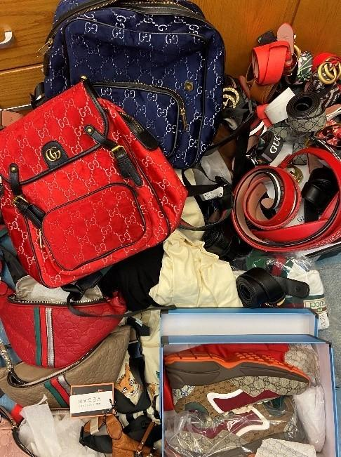 Police seized hundreds of counterfeit retail items during a traffic stop in Iredell County on July 24. The items totaled to be $360,400 in retail value, officials said.