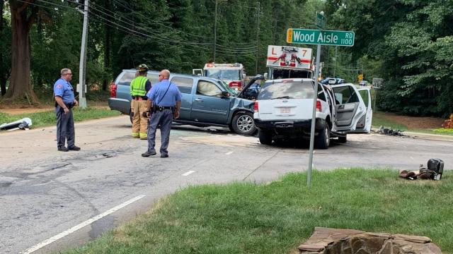 Raleigh crash on Jones Franklin Road and Wood Aisle Road, August 1, 2020